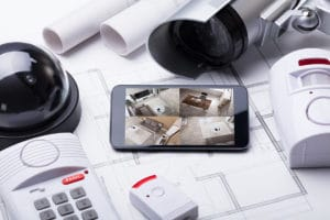 home security system components at Coggin Security